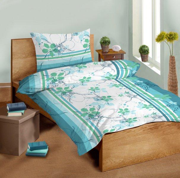 Saténové povlečení SLEEP WELL® 70x90 cm + 140x200 cm  - DAISY