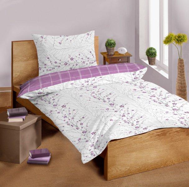 Saténové povlečení SLEEP WELL® 70x90 cm + 140x200 cm - MALOY/LILA