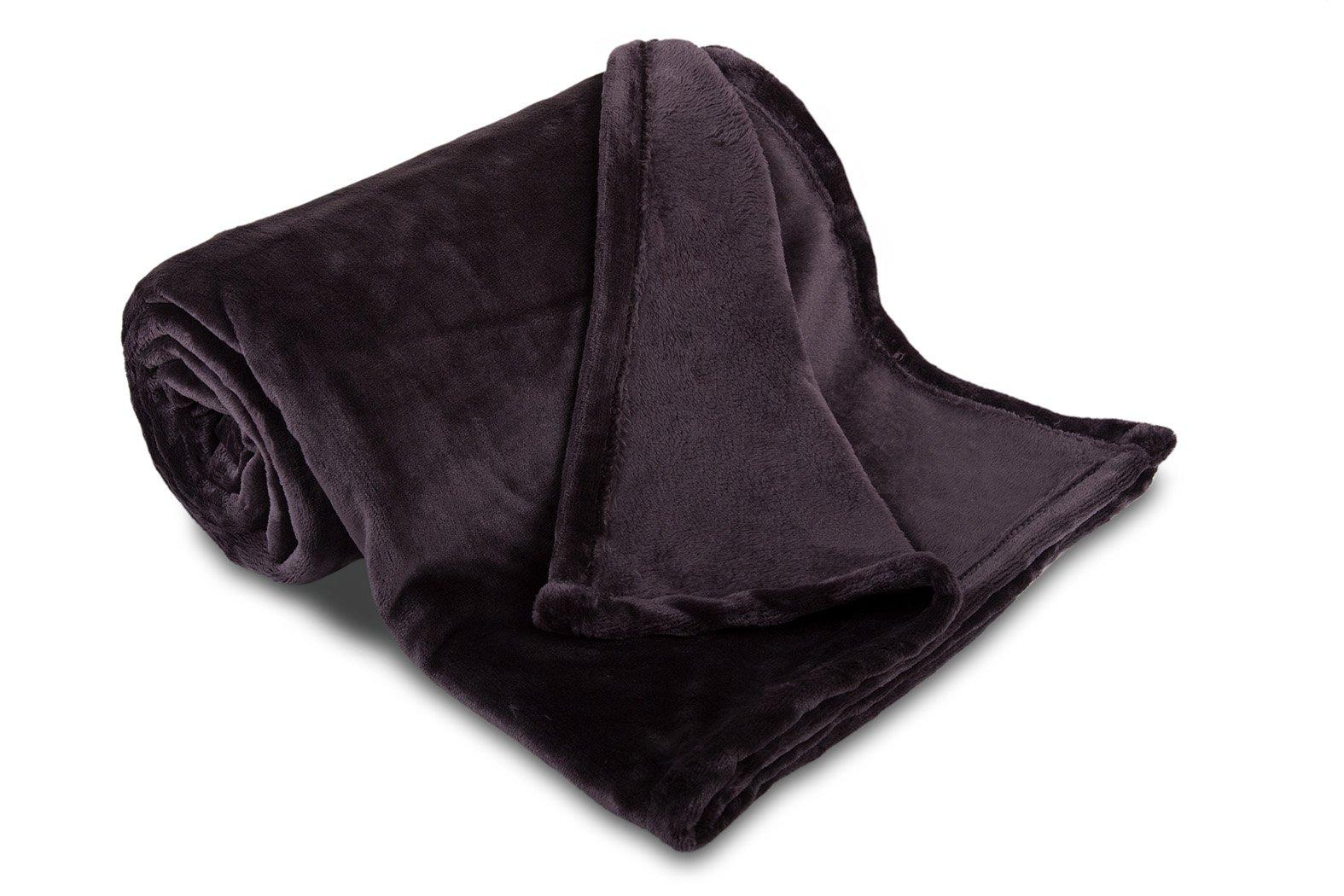 Deka mikroflanel SLEEP WELL® - 150x200cm - ANTRACIT