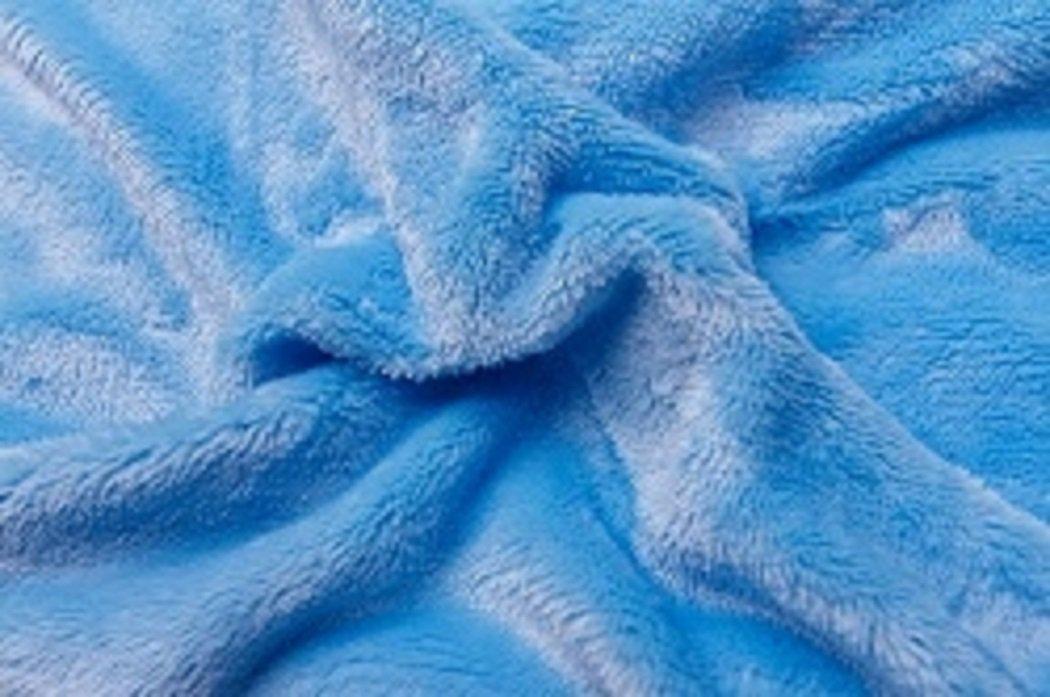 Prostěradlo  mikroflanel SLEEP WELL® - 90x200 cm - světle modrá
