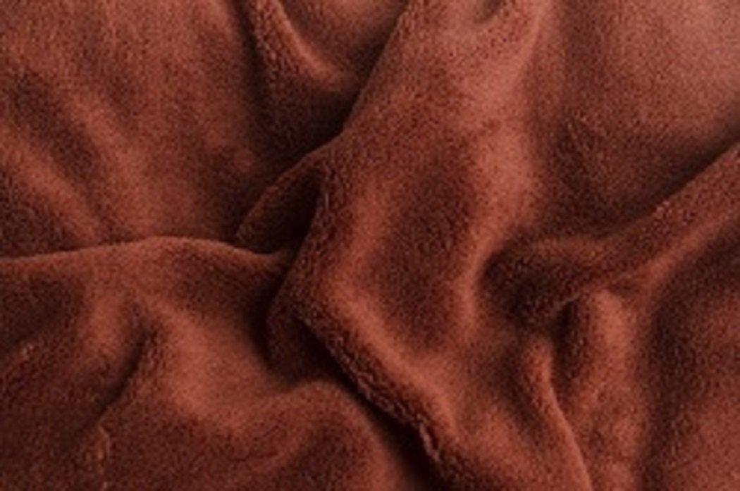 Prostěradlo  mikroflanel SLEEP WELL® - 90x200 cm - tmavě hnědá