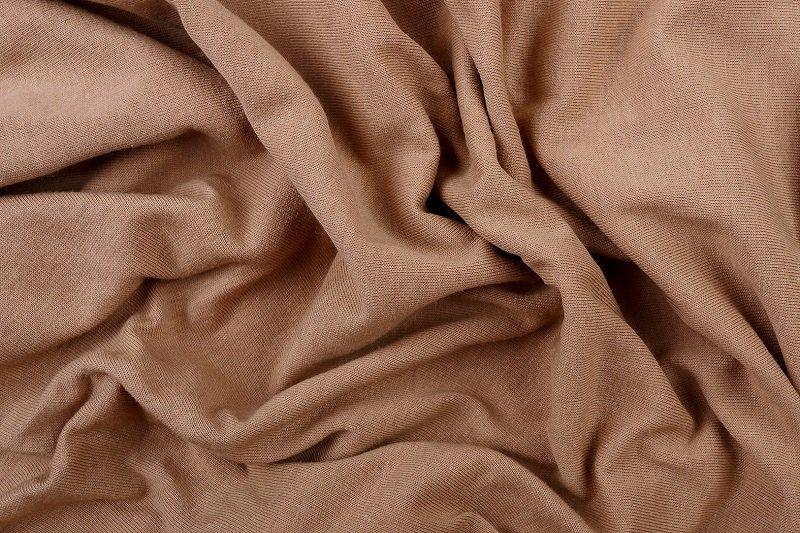 Prostěradlo 100% bavlna jersey – 90x200 cm - nugát