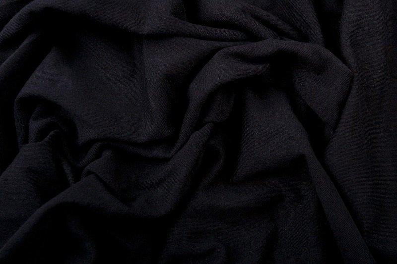 Prostěradlo 100% bavlna jersey – 90x200 cm - černá