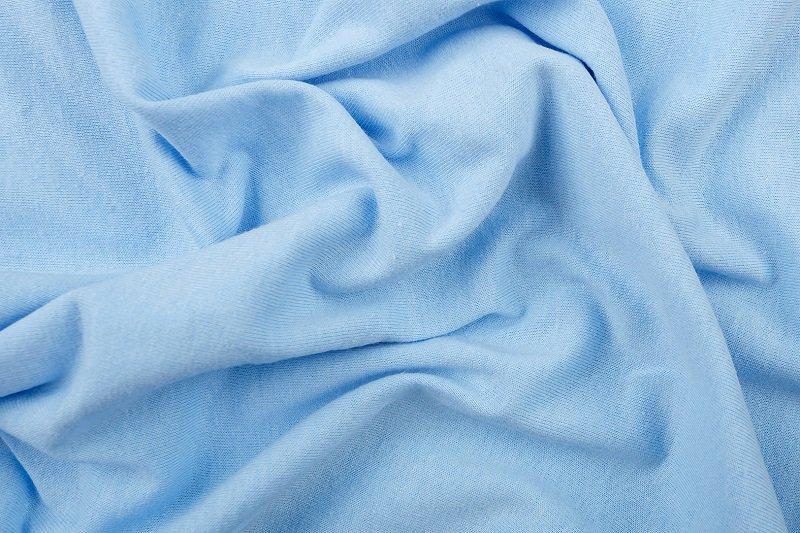Prostěradlo 100% bavlna jersey – 90x200 cm - světle modrá, poslední kus