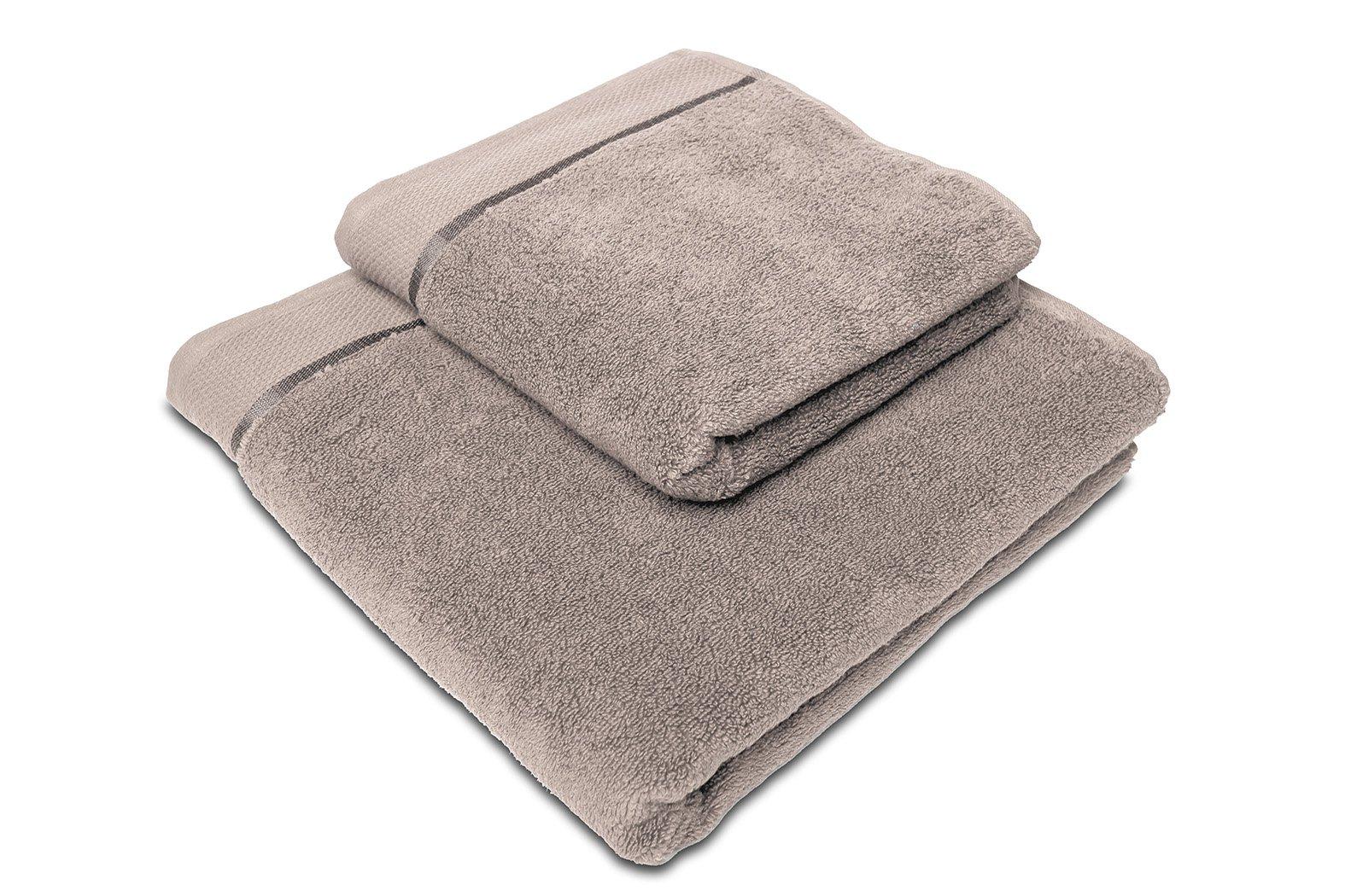 Ručník mikrobavlna SLEEP WELL® - 50x100 cm - ŠEDOHNĚDÁ