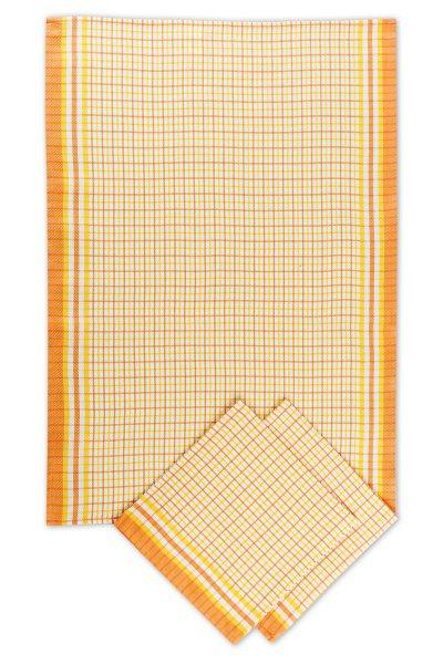 Svitap utěrky bambusové  Malá kostka oranžová - 3ks 50x70 cm