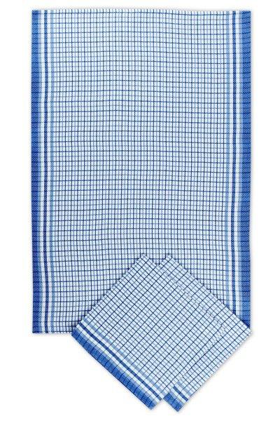 Svitap utěrky bambusové  Malá kostka  modrá - 3ks 50x70 cm