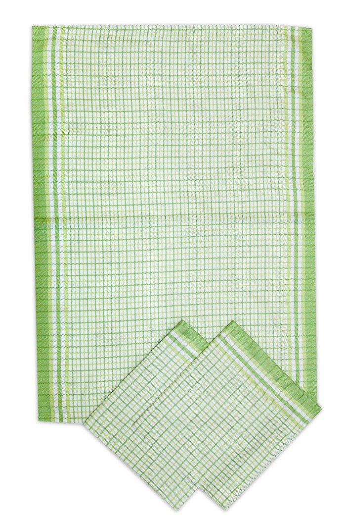 Svitap utěrky bambusové Malá kostka zelená - 3ks 50x70 cm