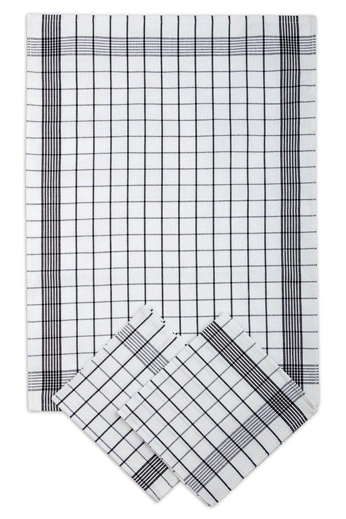 Svitap Utěrky bavlněné - Pozitiv bílo - černá 50x70 cm 3ks