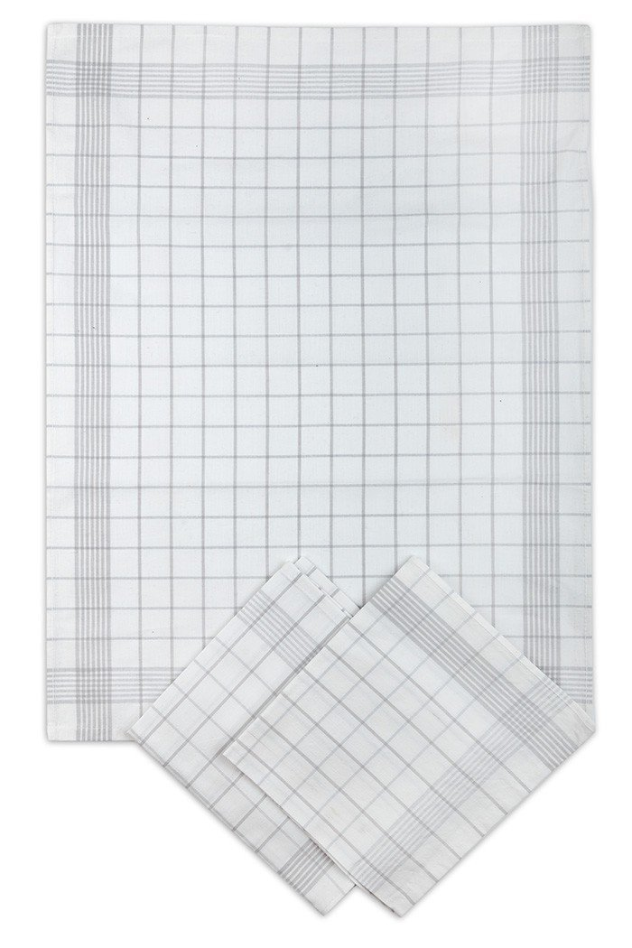 Utěrky bavlněné - Pozitiv bílo - šedá 50x70 cm 3ks