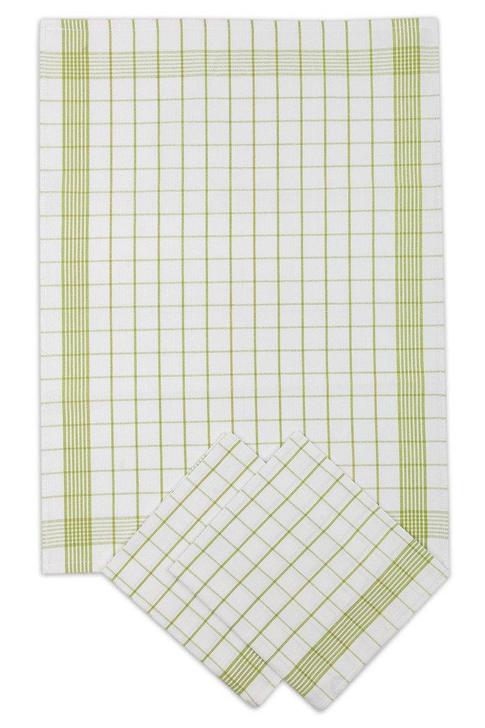 Svitap Utěrky bavlněné - Pozitiv bílo - zelená 50x70 cm 3ks
