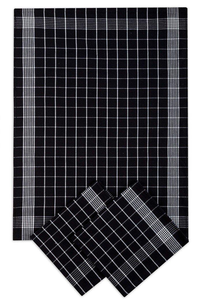 Svitap Utěrky bavlněné - Negativ  černo - bílá 50x70 cm 3ks