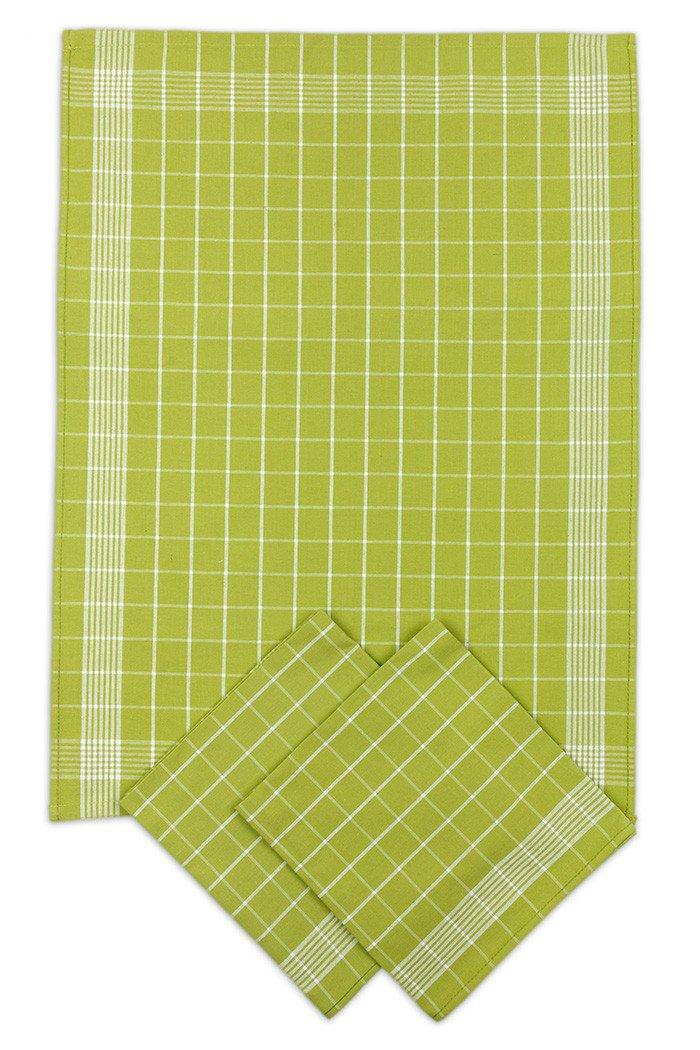 Utěrky bavlněné - Negativ zeleno - bílá 50x70 cm 3ks