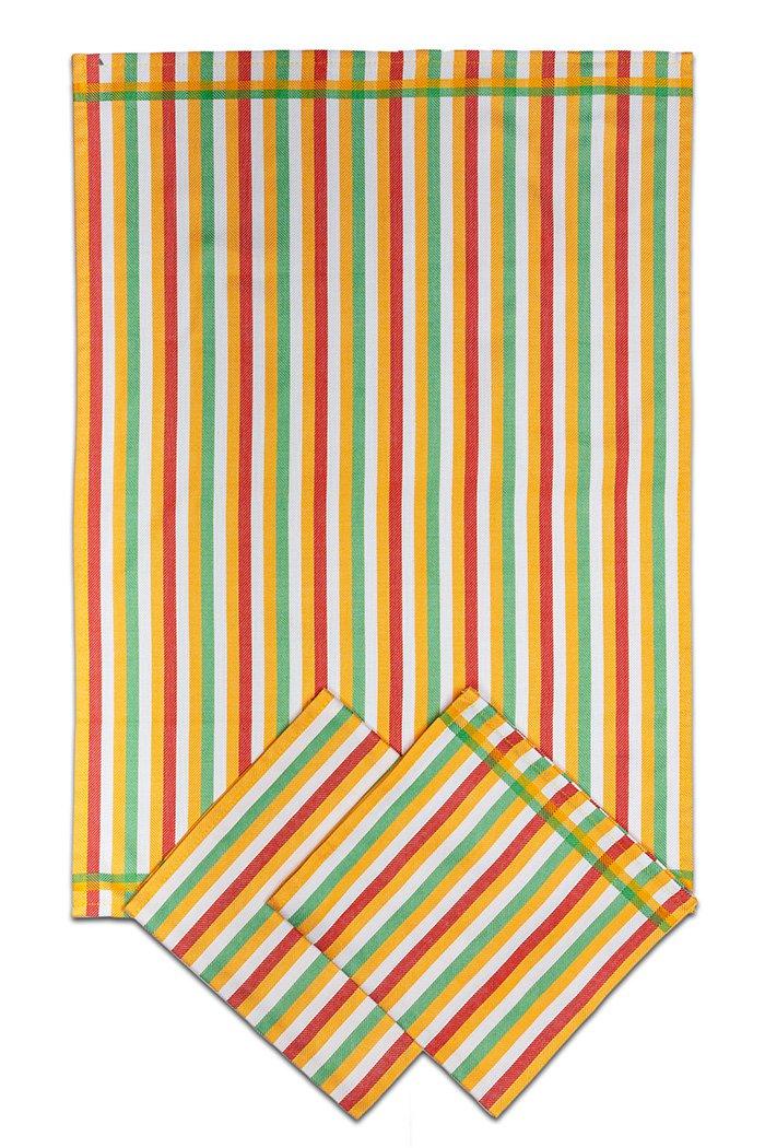 Svitap Utěrky bambusové - Pruh žlutý 50x70 cm 3ks