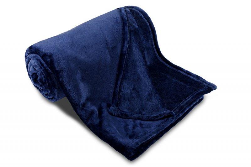 Deka mikroflanel SLEEP WELL®  - 150x200cm - TMAVĚ MODRÁ