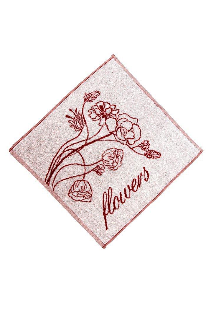 Froté utěrka/ručník - FLOWERS  50x50 cm