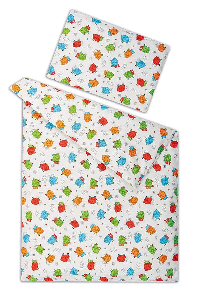 Dětské povlečení bavlna v tašce OVEČKY - 40x60 cm + 135x90 cm