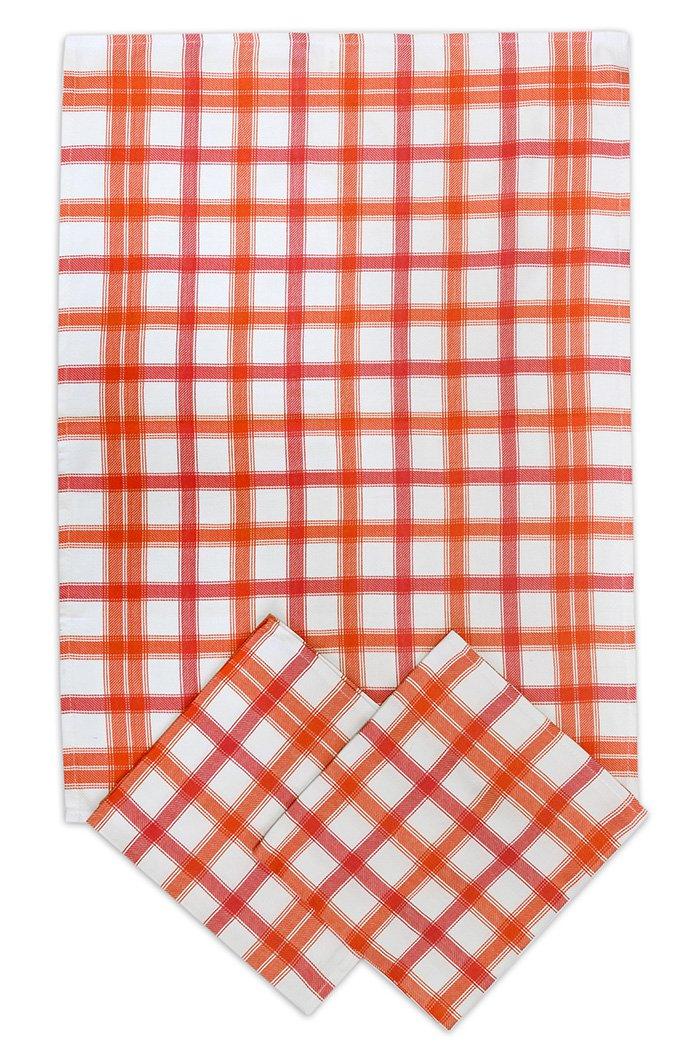 Svitap Utěrky bambusové - Střední kostka - červená 50x70 cm 3ks