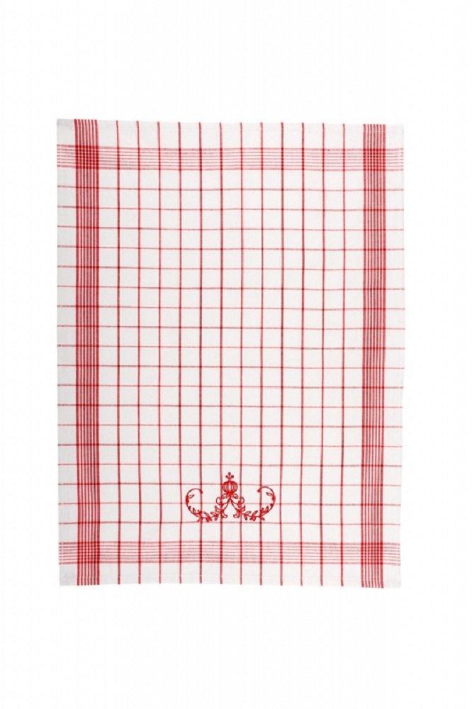 Svitap Utěrky Pozitiv s cibulákovým vzorem bílé s červenou výšivkou 50x70 cm 3ks