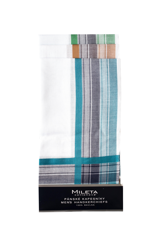 Mileta kapesníky barevný okraj 40x40cm, 6ks mix