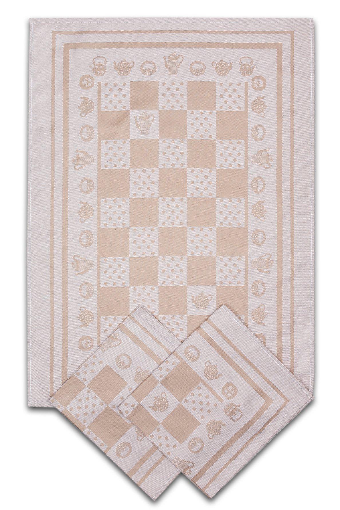 Svitap utěrky egyptská bavlna KONVIČKA/PUNTÍK 50x70cm 3ks - BÉŽOVÁ