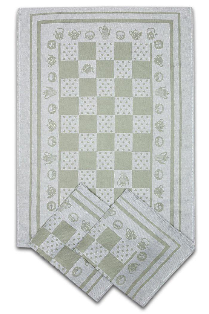 Svitap utěrky egyptská bavlna KONVIČKA/PUNTÍK 50x70cm 3ks - OLIVOVÁ