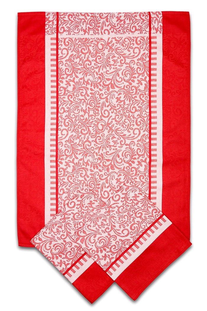Svitap utěrky egyptská bavlna ORNAMENTY 50x70cm 3ks - ČERVENÁ