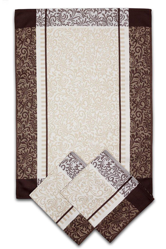 Svitap utěrky egyptská bavlna ORNAMENTY 50x70cm 3ks - HNĚDÁ