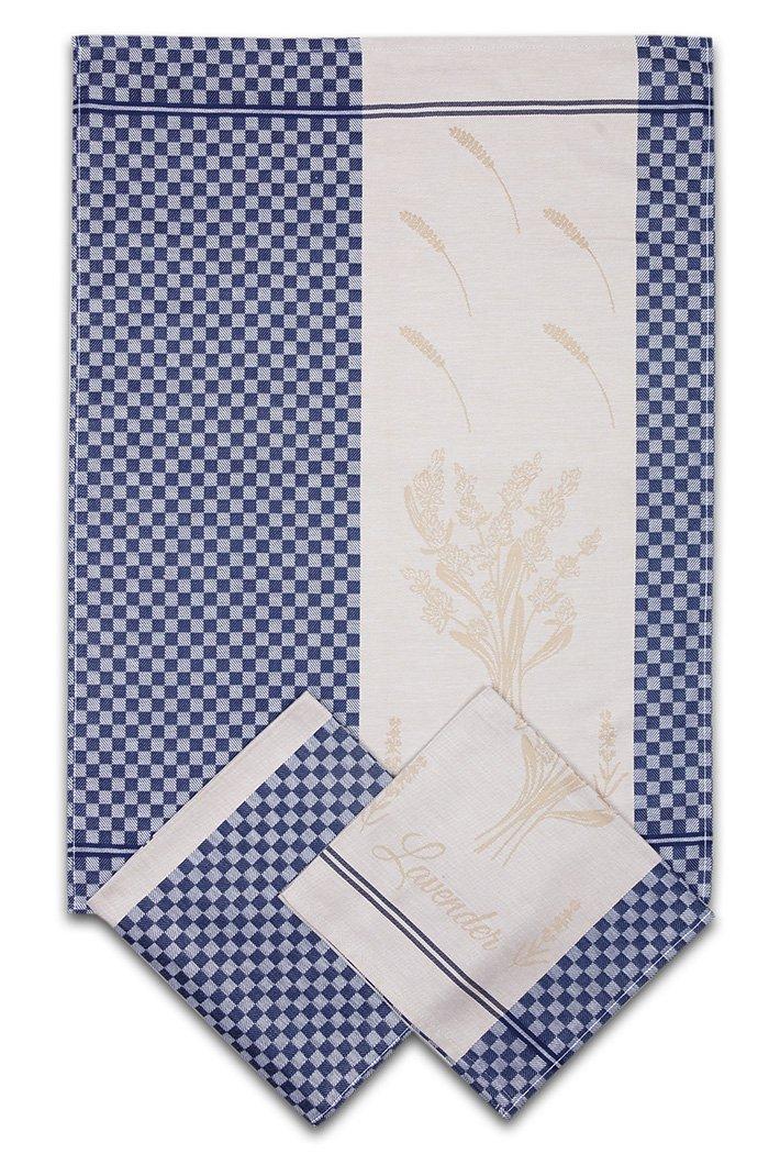 Svitap utěrky egyptská bavlna LEVANDULE KOSTKA 50x70cm 3ks - MODRÁ