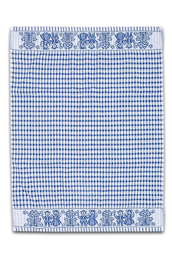 Froté utěrka / ručník FOLKLOR 50x70 cm - Modrá