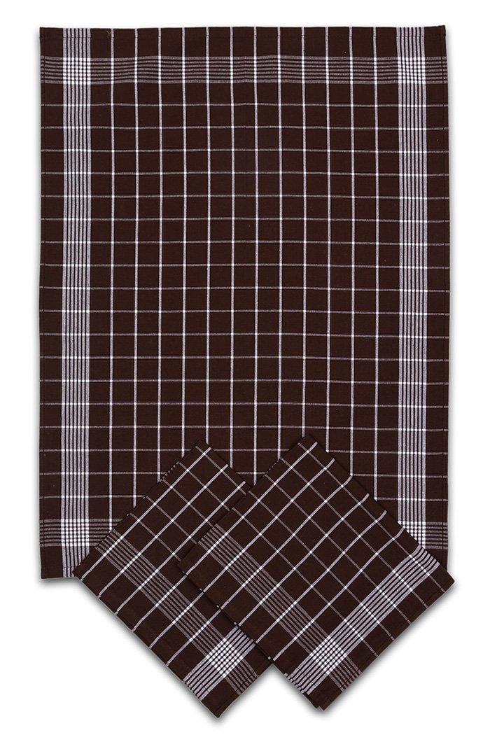 Svitap Utěrky bavlněné - Negativ hnědo - bílá 50x70 cm 3ks