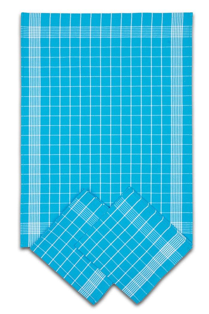 Svitap Utěrky bavlněné - Negativ tyrkysovo - bílá 50x70 cm 3ks