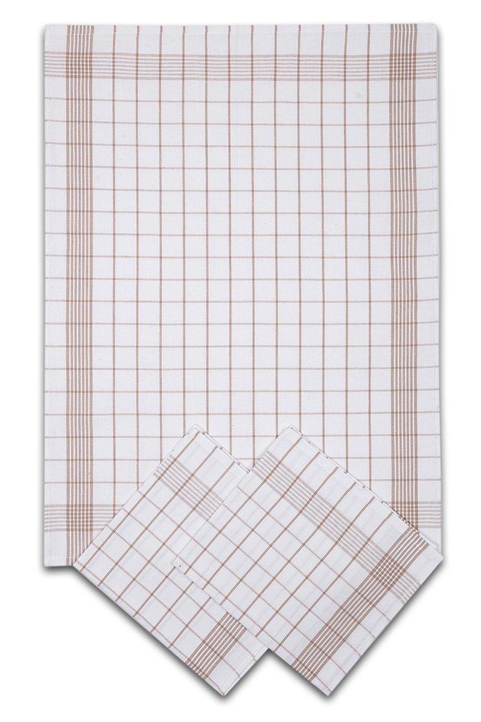 Svitap Utěrky bavlněné - Pozitiv bílo - béžová 50x70 cm 3ks