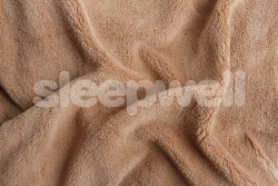 Prostěradlo z mikroflanelu SLEEP WELL® - 120x200cm - čoko