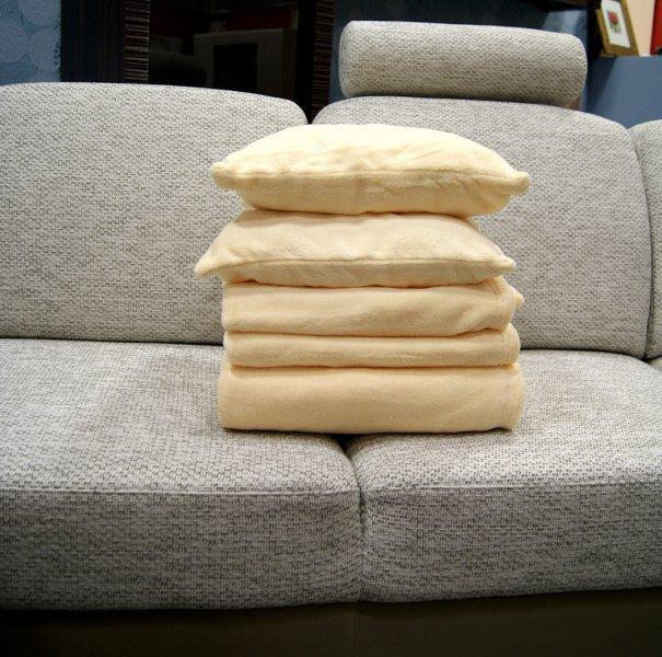 Přehozy na sedací soupravu mikrovlákno SLEEP WELL® - TMAVĚ HNĚDÁ