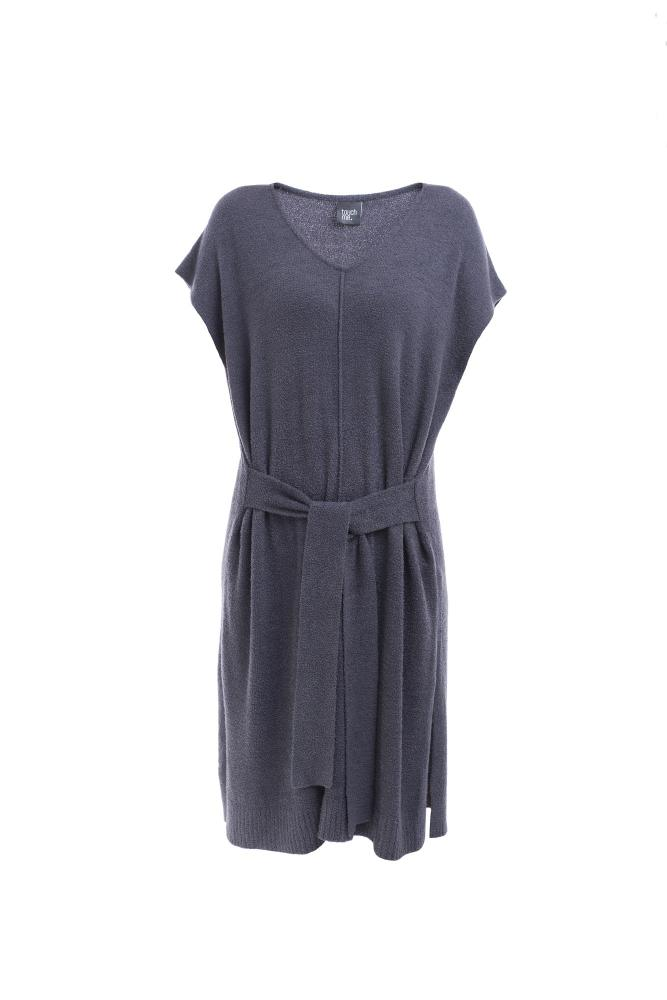 Dámské šaty ADRIANA - ŠEDÁ - ONE SIZE
