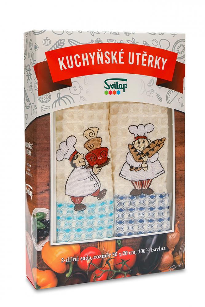 Dárková sada utěrek PIZZA KUCHAŘ 2ks