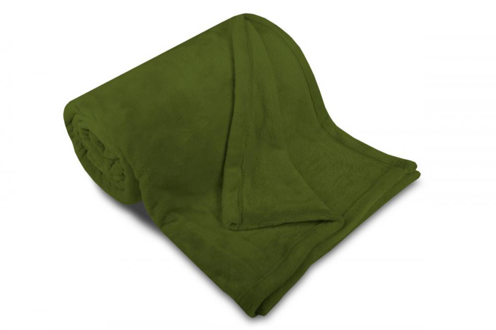 Deka mikroflanel SLEEP WELL® - 150x200cm - KHAKI