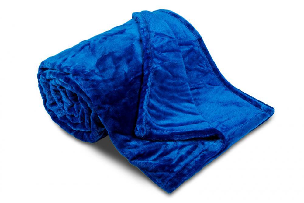 Deka mikroflanel SLEEP WELL® - 150x200cm - KRÁLOVSKÁ MODRÁ