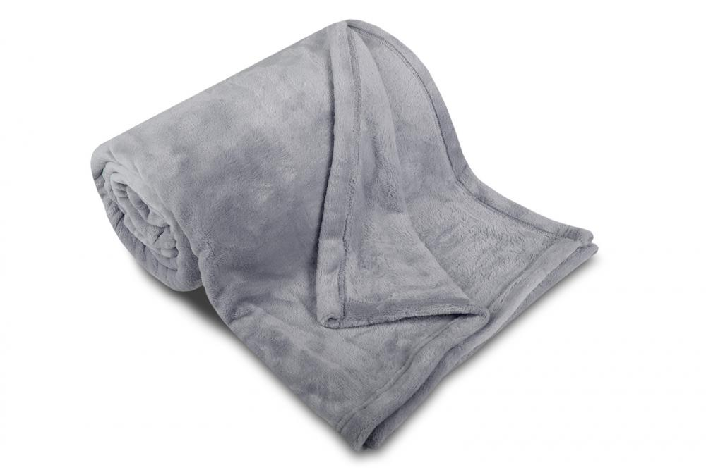 Deka mikroflanel SLEEP WELL® - 150x200cm - SVĚTLE ŠEDÁ