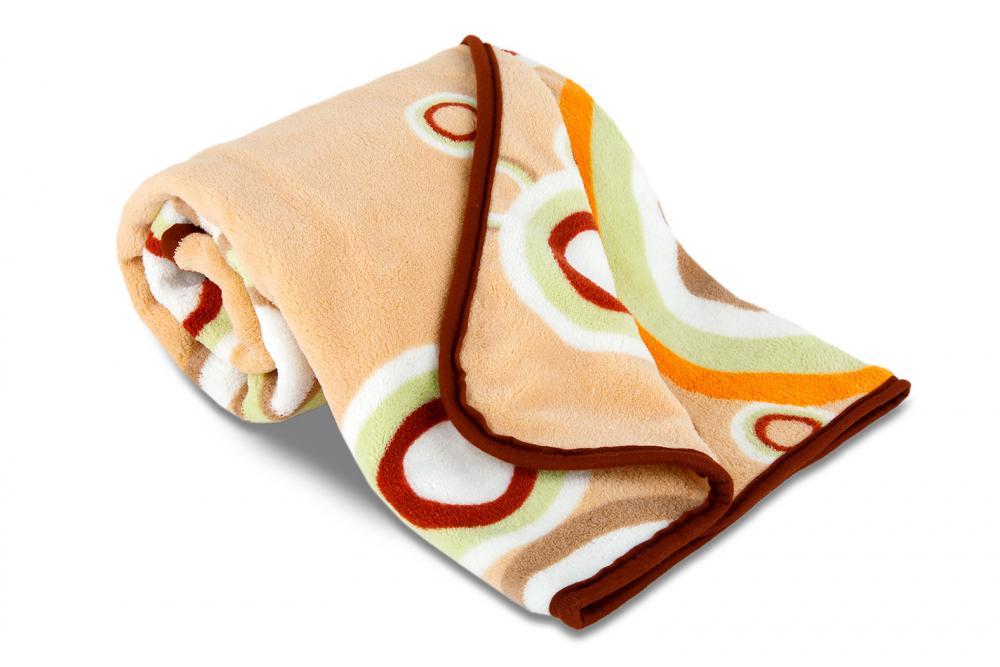 Dětská deka z mikrovlákna SLEEP WELL s potiskem - KRUHY