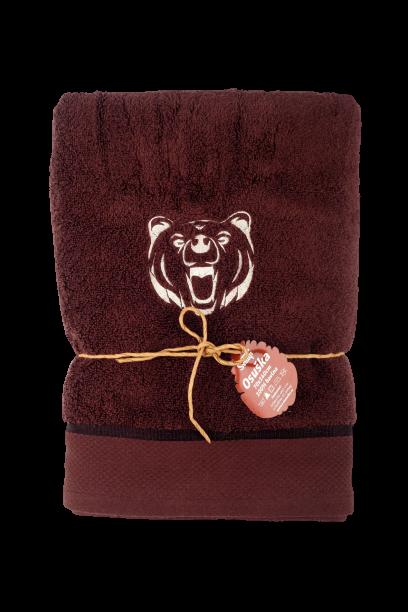 "Osuška ""Medvěd"" pro myslivce z mikrobavlny SLEEP WELL® - 70x140 cm"