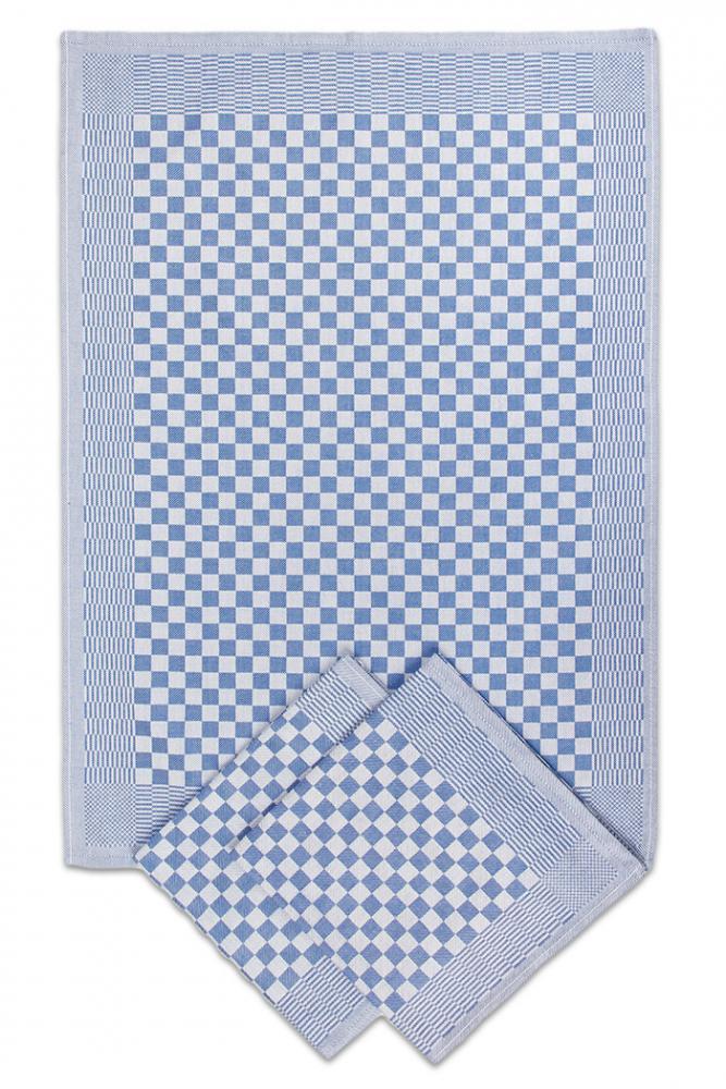 Pracovní ručník / utěrka 50x70cm kepr hladká - MODRÁ 3ks