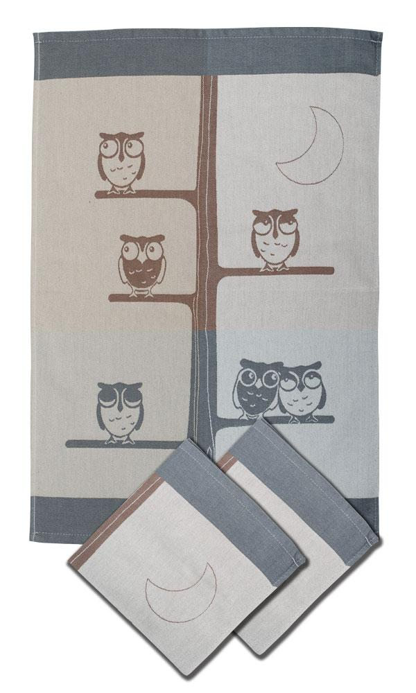 Svitap Utěrky bambusové - Sova 50x70 cm 3ks