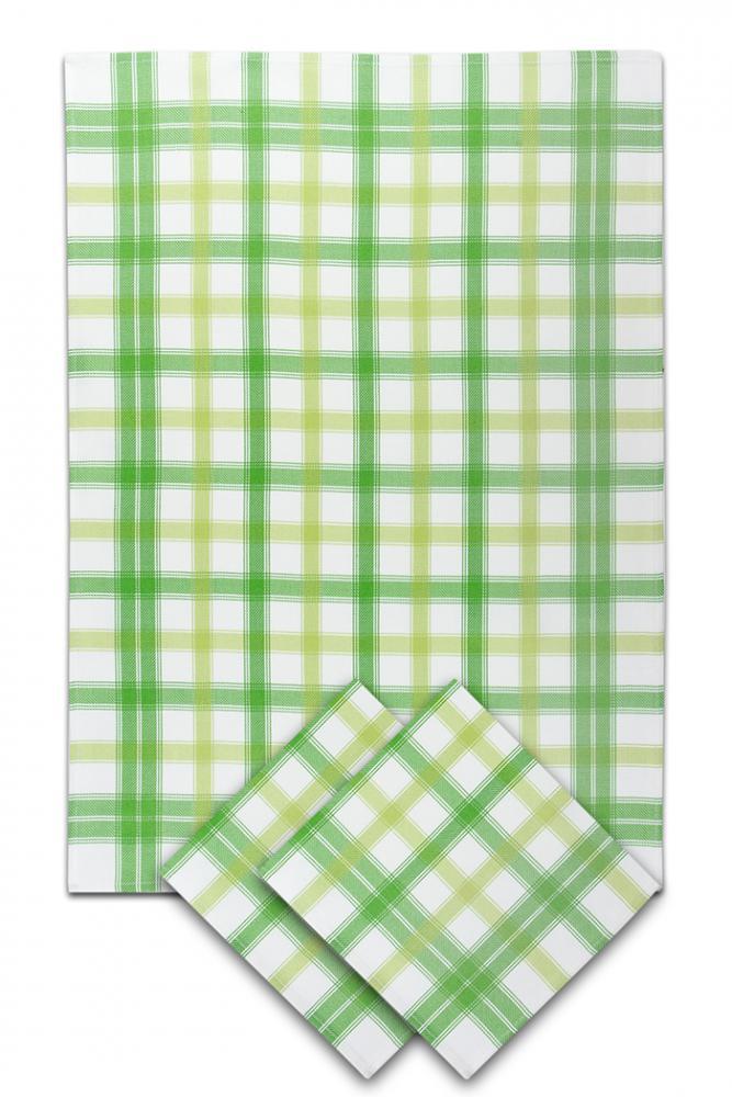 Svitap Utěrky bambusové - Střední kostka - zelená 50x70 cm 3ks