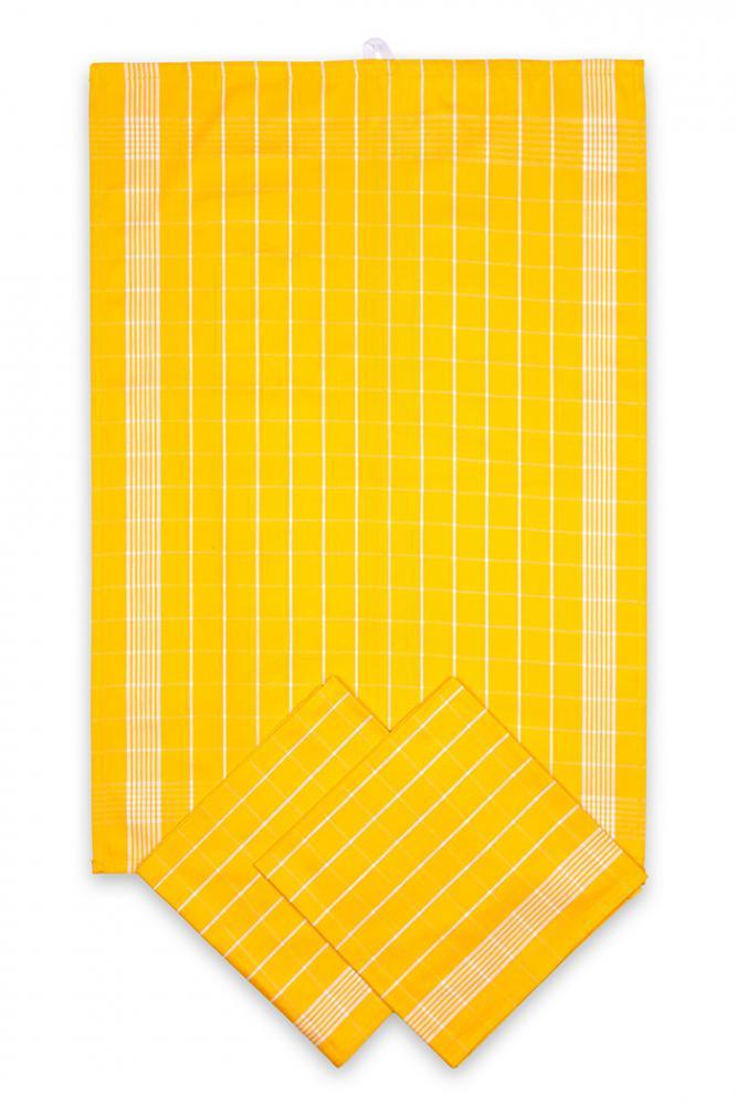 Svitap Utěrky bavlněné - Negativ žluto - bílá 50x70 cm 3ks