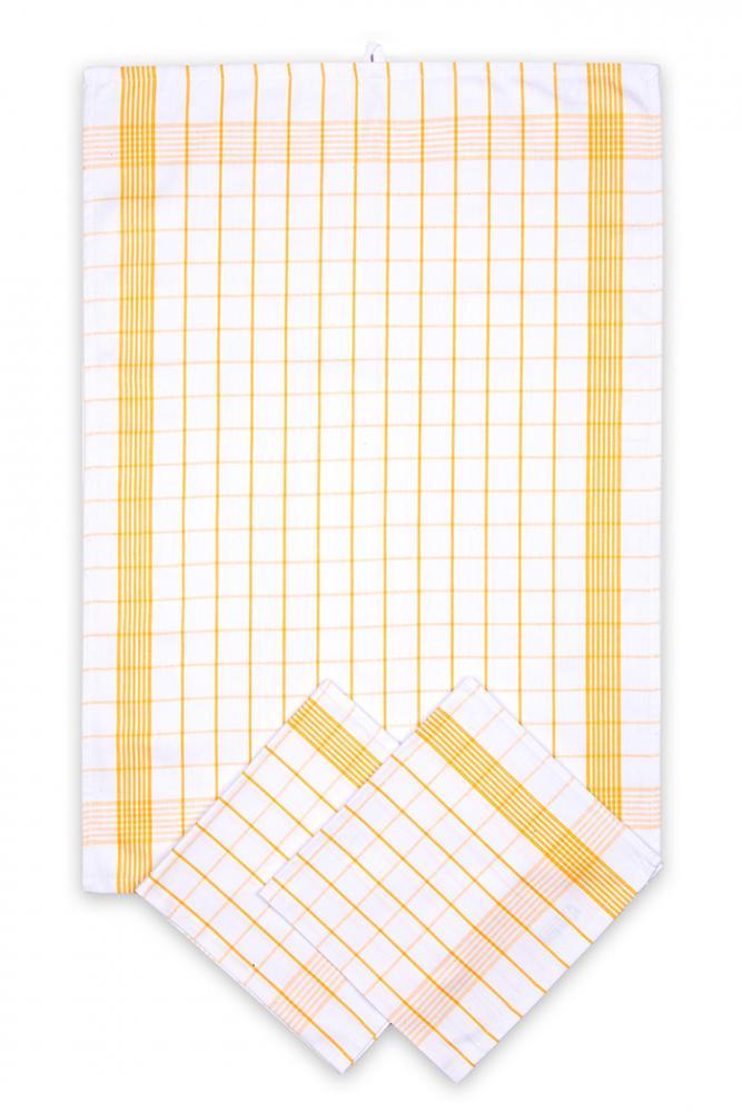 Svitap Utěrky bavlněné - Pozitiv bílo - žlutá 50x70 cm 3ks