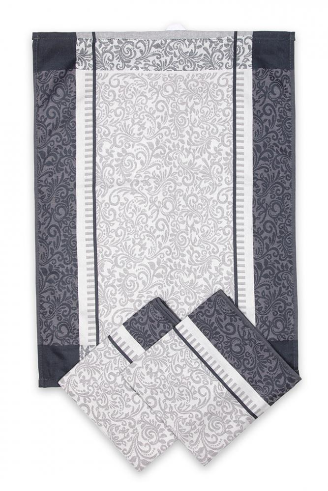 Svitap utěrky egyptská bavlna ORNAMENTY 50x70cm 3ks - ŠEDÁ