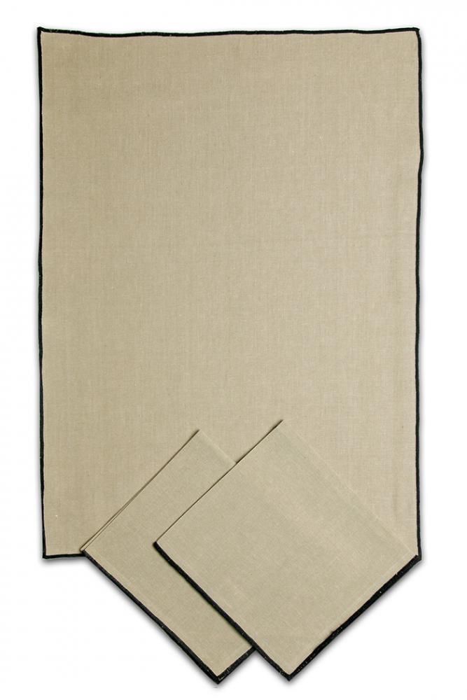 Svitap utěrky z REŽNÉ bavlny 50x70cm 3ks OBŠITÉ ČERNĚ