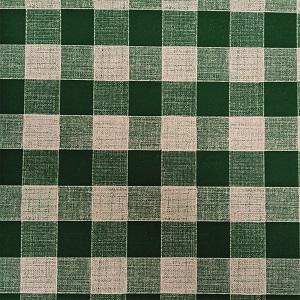 UBRUSOVINA PVC s textilním podkladem/PVC ubrus - vzor kostka zelená